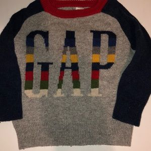GAP crazy stripes toddler sweater 18-24 months